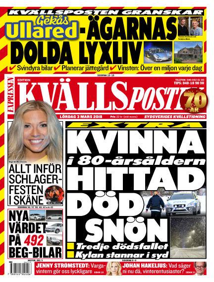 Kvällsposten March 03, 2018 00:00