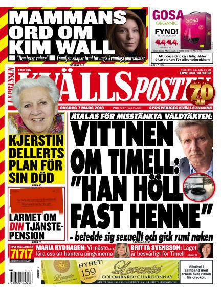 Kvällsposten March 07, 2018 00:00