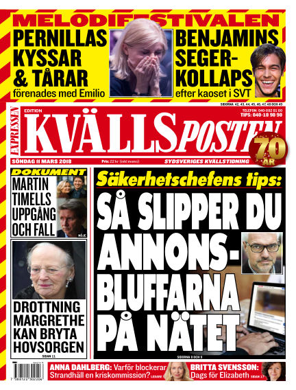 Kvällsposten March 11, 2018 00:00