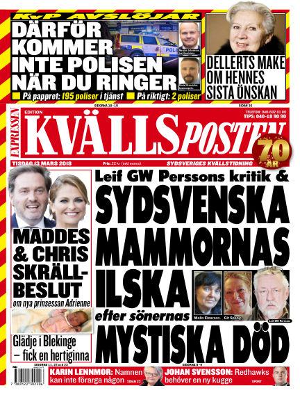 Kvällsposten March 13, 2018 00:00