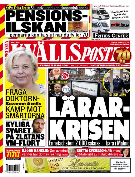 Kvällsposten March 16, 2018 00:00