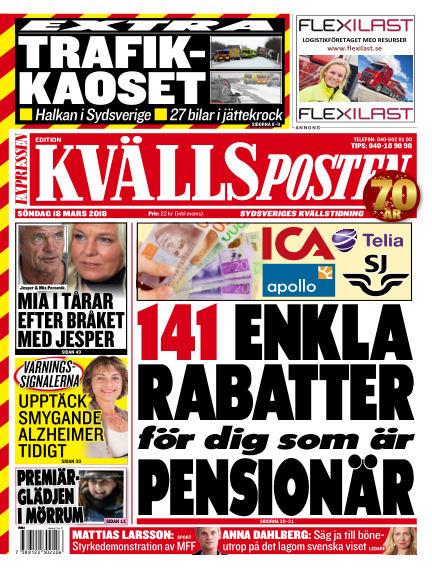 Kvällsposten March 18, 2018 00:00
