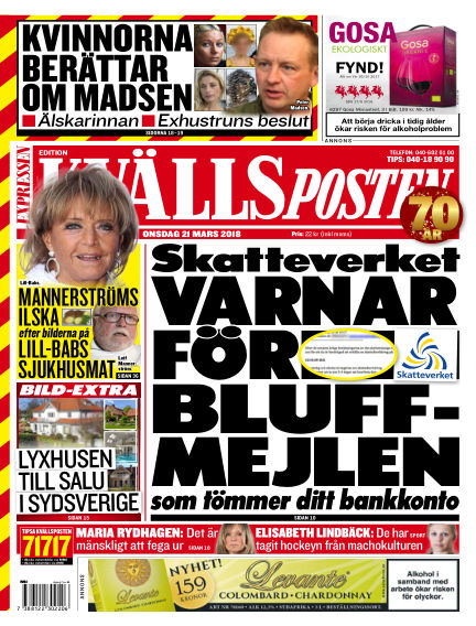 Kvällsposten March 21, 2018 00:00
