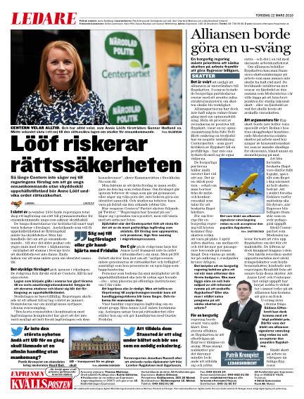 Kvällsposten March 22, 2018 00:00
