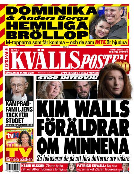 Kvällsposten March 25, 2018 00:00