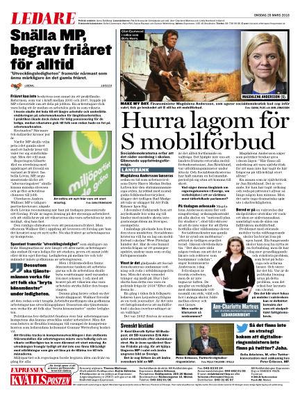 Kvällsposten March 28, 2018 00:00
