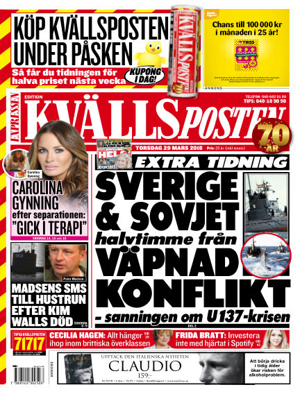 Kvällsposten March 29, 2018 00:00