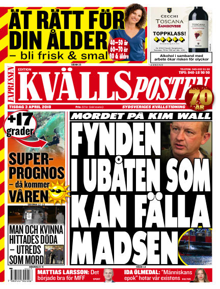 Kvällsposten April 03, 2018 00:00