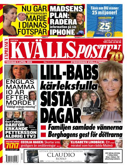 Kvällsposten April 05, 2018 00:00