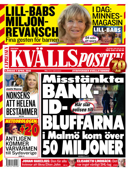 Kvällsposten April 07, 2018 00:00
