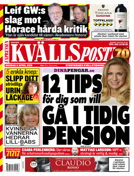 Kvällsposten April 11, 2018 00:00