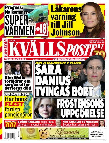 Kvällsposten April 13, 2018 00:00