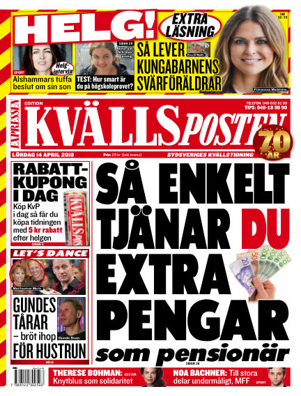 Kvällsposten April 14, 2018 00:00