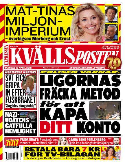 Kvällsposten April 16, 2018 00:00