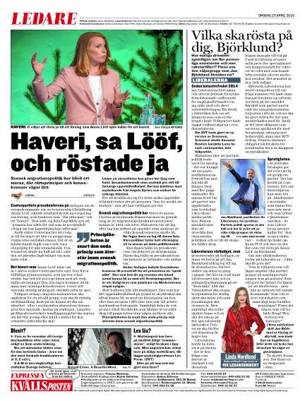 Kvällsposten April 25, 2018 00:00