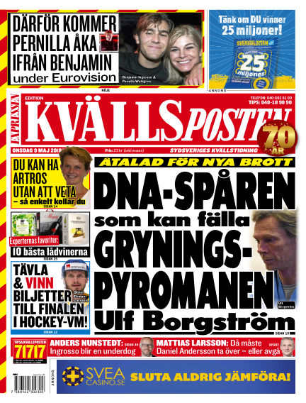 Kvällsposten May 09, 2018 00:00