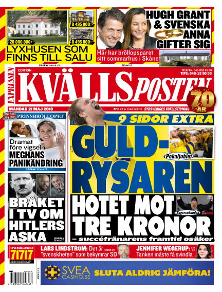 Kvällsposten May 21, 2018 00:00