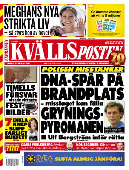 Kvällsposten May 22, 2018 00:00