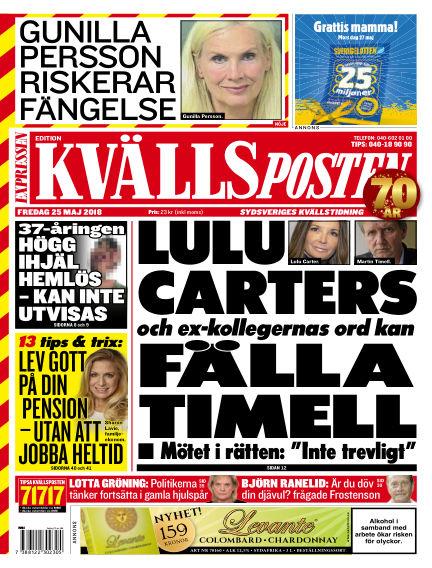Kvällsposten May 25, 2018 00:00