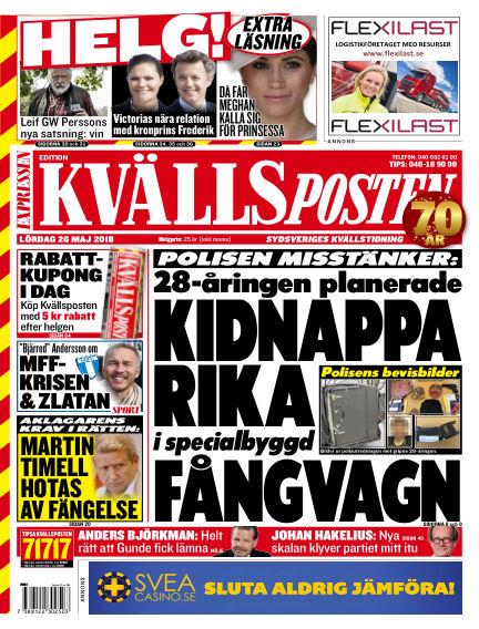 Kvällsposten May 26, 2018 00:00
