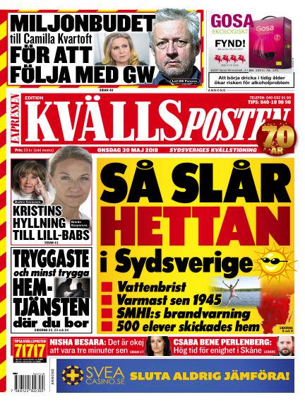 Kvällsposten May 30, 2018 00:00