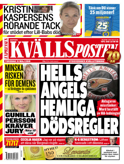 Kvällsposten May 31, 2018 00:00