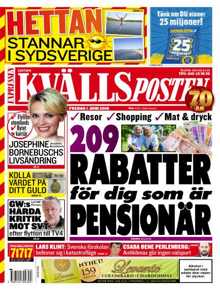 Kvällsposten June 01, 2018 00:00