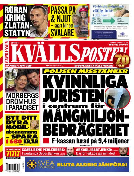 Kvällsposten June 04, 2018 00:00