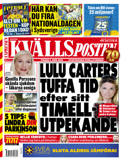 Kvällsposten June 05, 2018 00:00