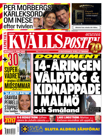 Kvällsposten June 11, 2018 00:00