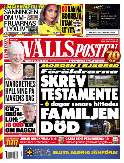 Kvällsposten June 12, 2018 00:00