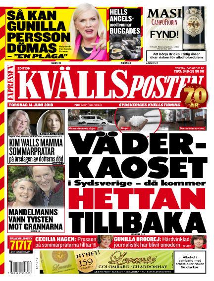 Kvällsposten June 14, 2018 00:00