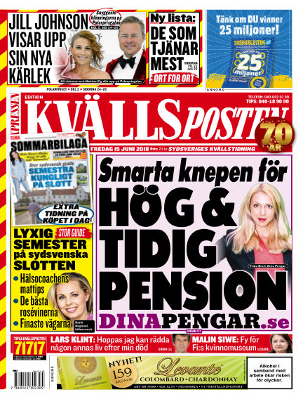 Kvällsposten June 15, 2018 00:00