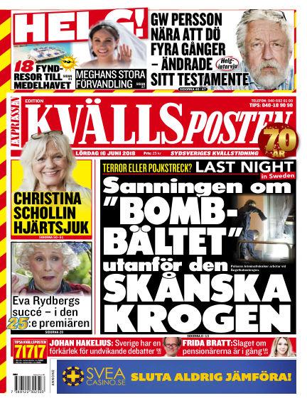 Kvällsposten June 16, 2018 00:00