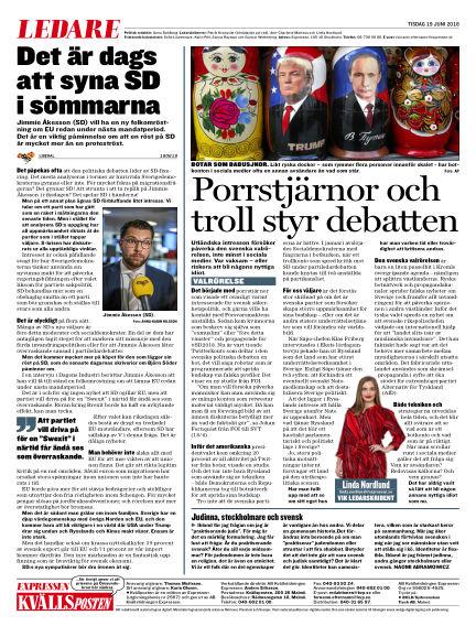 Kvällsposten June 19, 2018 00:00