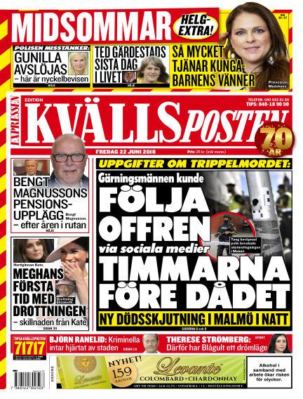Kvällsposten June 22, 2018 00:00
