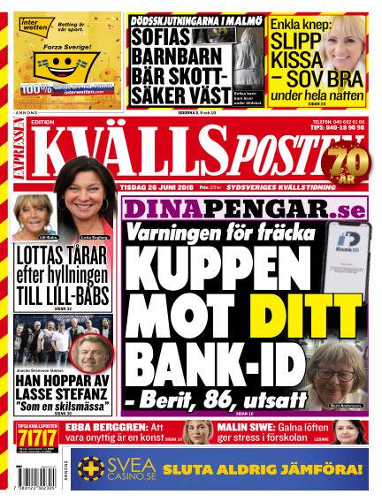 Kvällsposten June 26, 2018 00:00