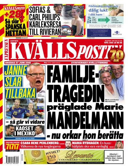 Kvällsposten June 27, 2018 00:00