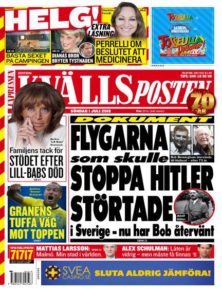 Kvällsposten July 01, 2018 00:00