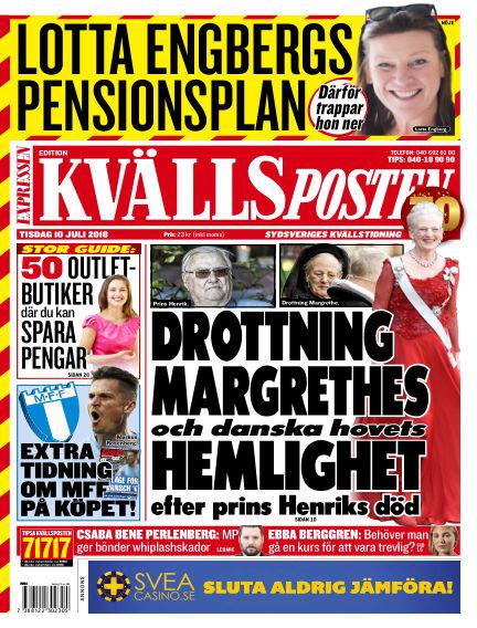 Kvällsposten July 10, 2018 00:00