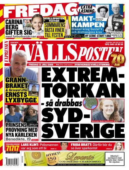 Kvällsposten July 13, 2018 00:00