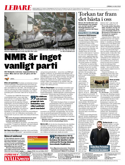 Kvällsposten July 14, 2018 00:00