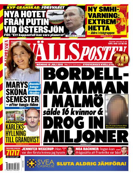 Kvällsposten July 16, 2018 00:00