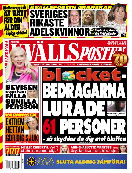 Kvällsposten July 17, 2018 00:00