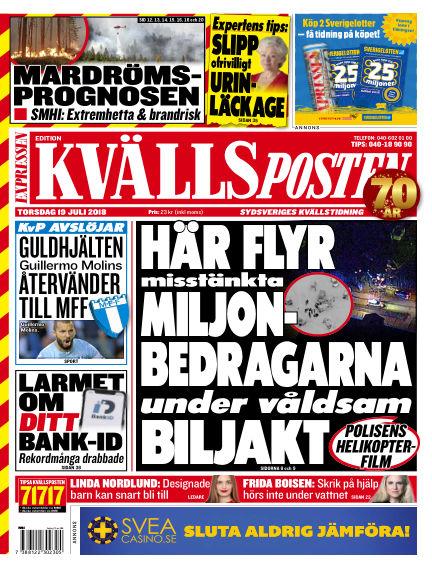 Kvällsposten July 19, 2018 00:00
