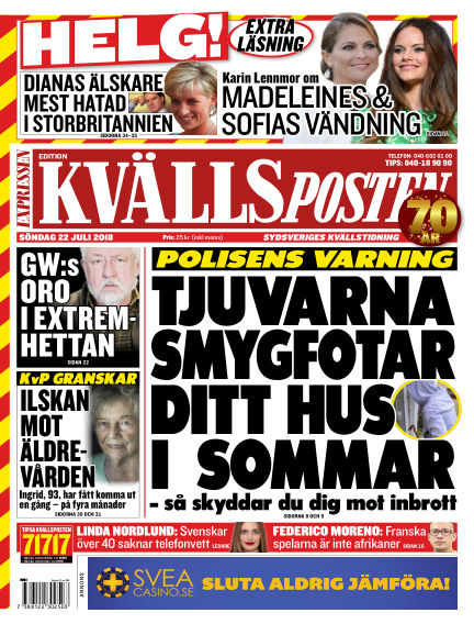 Kvällsposten July 22, 2018 00:00