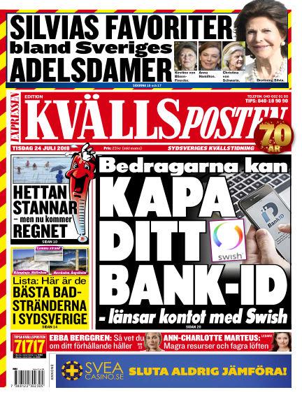 Kvällsposten July 24, 2018 00:00