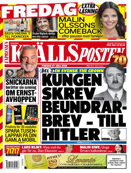 Kvällsposten July 27, 2018 00:00