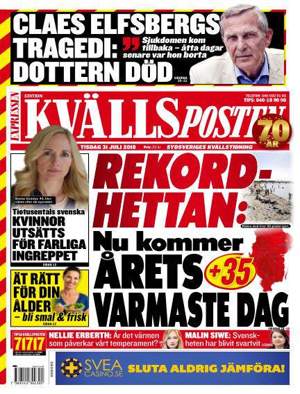 Kvällsposten July 31, 2018 00:00
