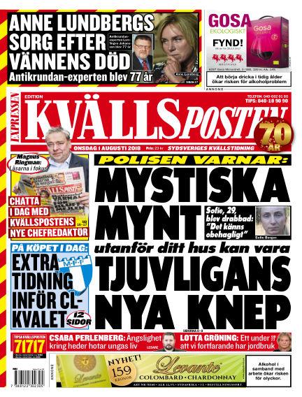 Kvällsposten August 01, 2018 00:00
